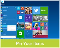 Use IT Computers - Windows 10 Pin Your Items