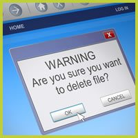 Deleting things by accident - Use IT Computers