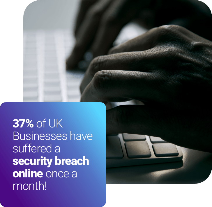 37% of uk businesses have suffered a security breach online once a month!